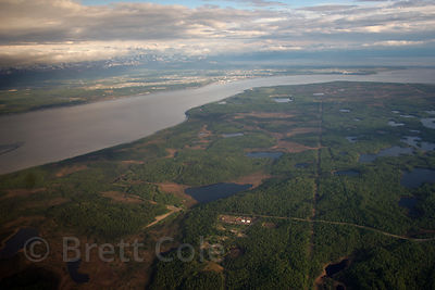Aerial view just south of Anchorage, Alaska