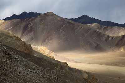 Late light on the Hiamalayan desert near Umla village, Ladakh, India