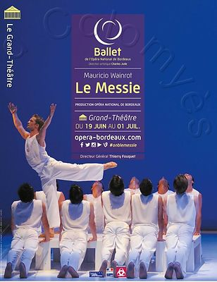Affiche Le Messie, ballet de l'Opéra National de Bordeaux