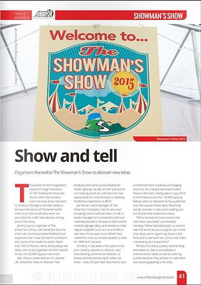 Stand Out magazine - November 2015 - Showman's Show - page 41