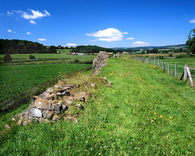 Remains of Roman Wall, Caerwnet, Monmouthshire, South Wales.