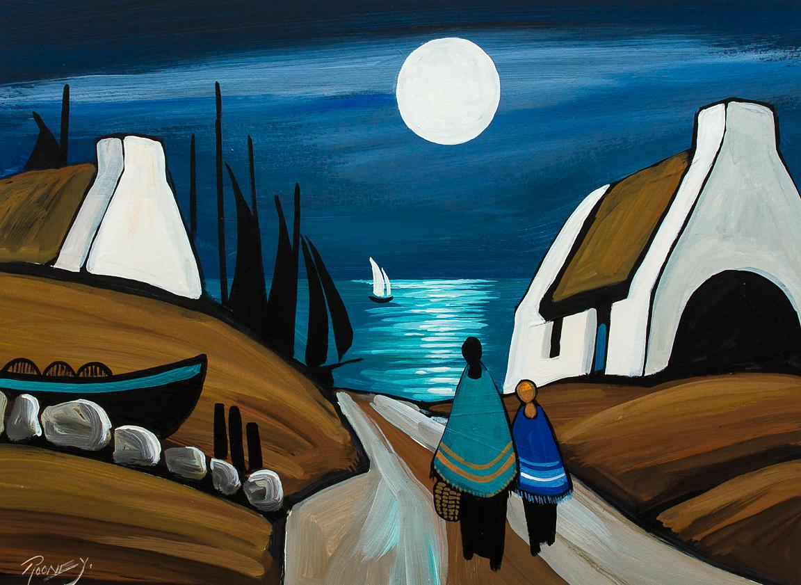 Jp Rooney Amp Martin Hasson Irish Art Studio The White Wash Moon