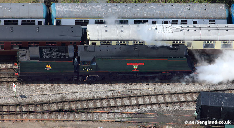 34092 City of Wells,  Southern Railway steam  locomotive