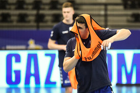 Leon Strbad of team PPD Zagreb training during the Final Tournament - Final Four - SEHA - Gazprom league, Skopje, 12.04.2018, Mandatory Credit ©SEHA/ Nebojsa Tejic