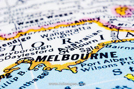 melbourne on map