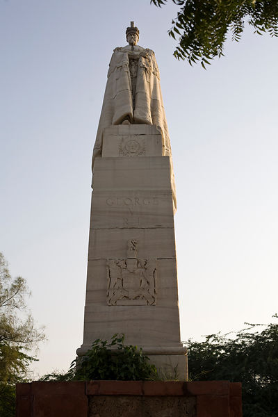 India - Delhi - The statue of King George V at the Coronation Durbar site near Delhi