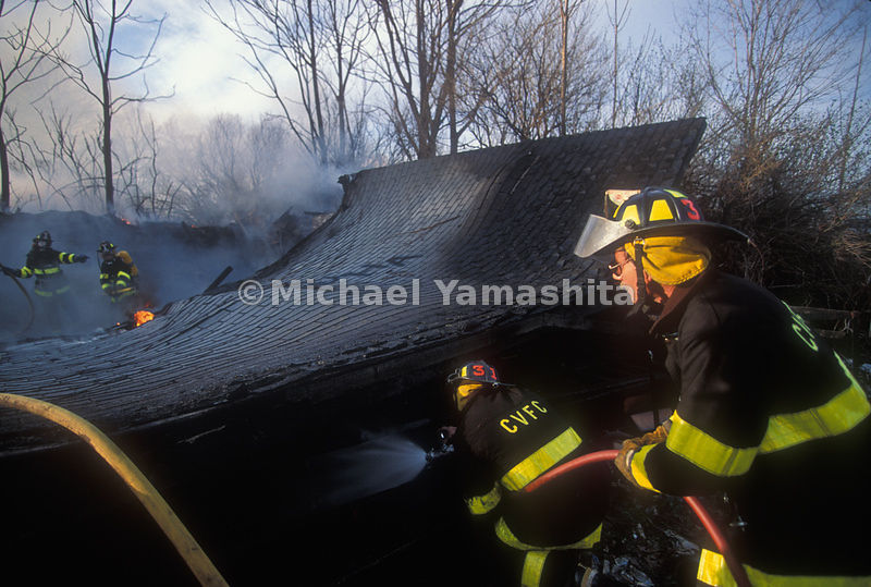Ralston Engine Co. #1 puts out the Colby barn fire, Chester, NJ.