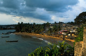 View from Fort St Antony, built by the Portuguese in 1515, Axim, Ghana