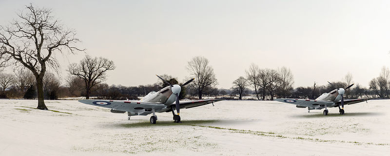 Spitfires in the snow