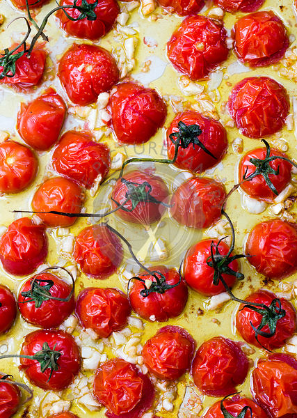 OVEN ROASTED GRAPE TOMATOES WITH GARLIC
