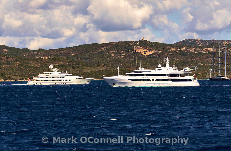 Superyacht Roma and Lady Marina