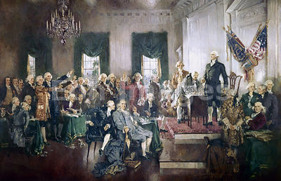 Scene at the Signing of the Constitution by Christy