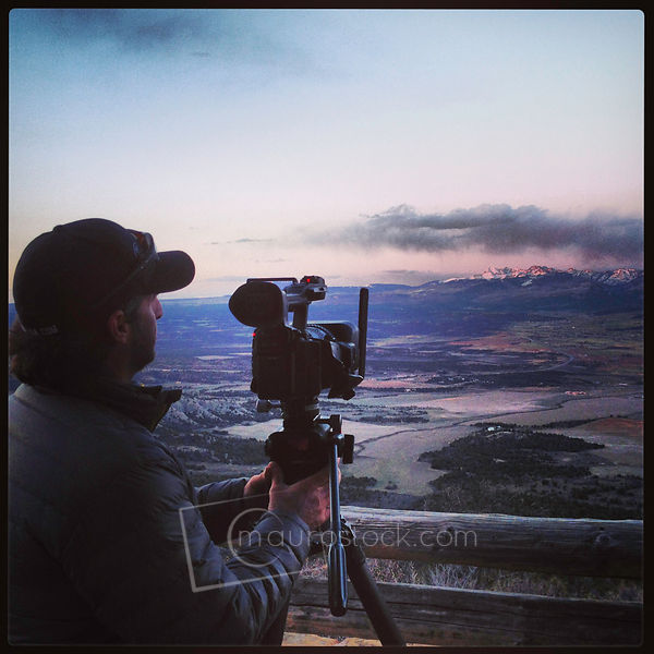 Instagram shot of Michael Mauro behind the scenes timelapse
