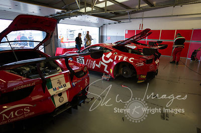 In the pit lane with the AF Corse Ferrari 458 Italia GT3 team at the Silverstone 500 - the third round of the British GT Championship 2014 - 1st June 2014