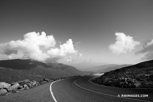 MOUNT WASHINGTON AUTO ROAD WHITE MOUNTAINS NEW HAMPSHIRE BLACK AND WHITE