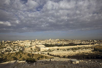 Israel - Jerusalem - A view of the Old City as seen from the Mount of Olives