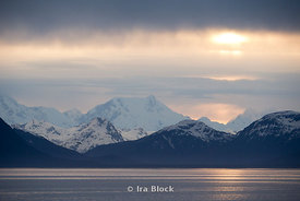 Mountain scene in Glacier Bay National Park, Southeast Alaska.