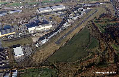 aerial photograph of the disused Sheffield City Airport   Sheffield West Yorkshire England UK