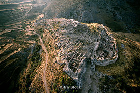 Aerial of Mycenae Ruins, Mycenae Greece