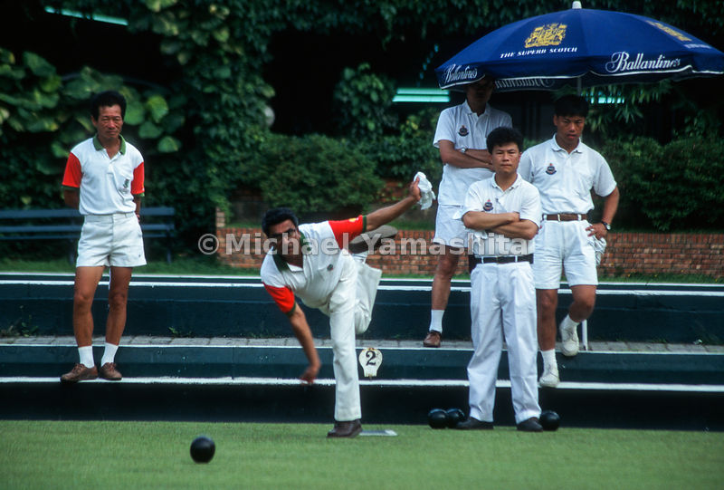 Kowloon Cricket Club bowling competition held every Saturday..Hong Kong, China