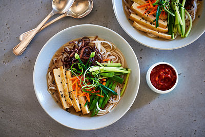 Vegan Ramen with Soba and Tofu