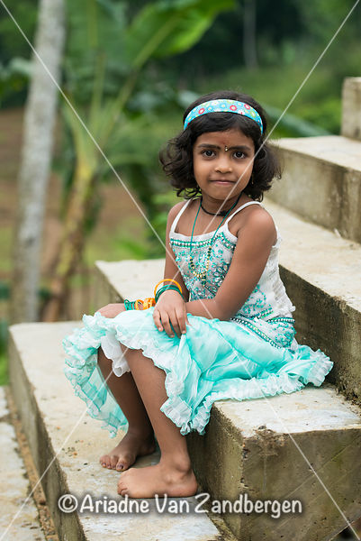 Girl at a Hindu Wedding, Deniyaya, Sri Lanka