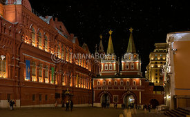 Resurrection Gates on Red Square in Moscow, Russian Federation