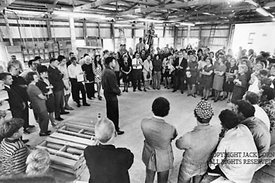 Clairfield pallet factory dedication