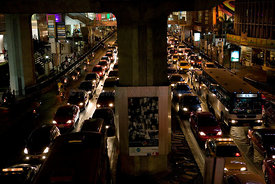 Bangkok traffic at night