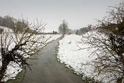 River Ebble, Chalke Valley in winter