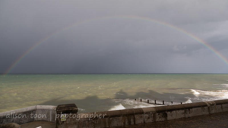 Rainbow over the North Sea, seen from Cromer