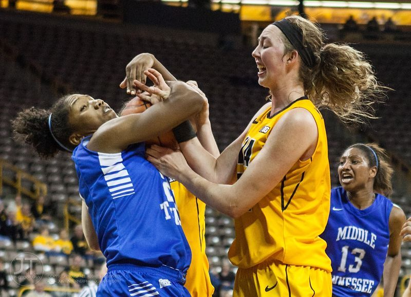 Women's Basketball - Middle Tennessee vs Iowa, November 14, 2012 photos