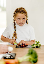 Girl preparing food