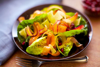 carrot salad with butter lettuce