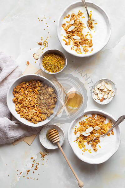 Homemade Yogurt and granola breakfast