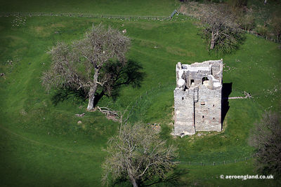 aerial photograph of Hopton Castle Shropshire England UK