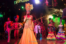 Performers at TheTropicana Nightclub, a world known cabaret and club in Havana, Cuba. It was launched in 1939.