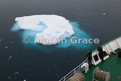 Small iceberg from cruise ship in Lemaire Channel, Antarctic Peninsula