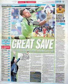 Daily Mirror 17 March 2014.4356872 – Steven Paston.