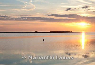 Hilbre at sunset from West Kirby marine lake (2)