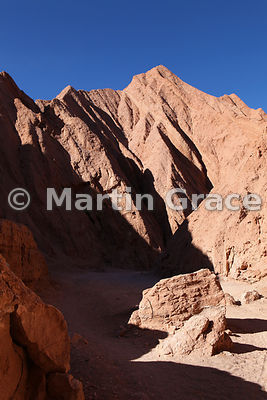 Rock landforms in the Catarpe Valley, Atacama