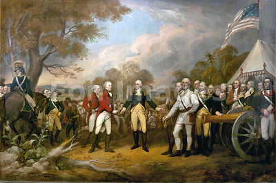 Surrender of General Burgoyne by Trumbull