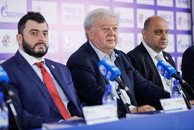 Officials during the Final Tournament - Final Four - SEHA - Gazprom league, Closing Press Conference, Belarus, 09.04.2017, Mandatory Credit ©SEHA/ Stanko Gruden..