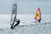 Windsurfers on marine lake