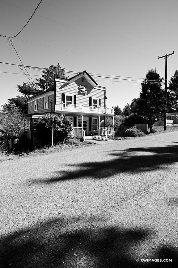 STREET IN BODEGA CALIFORNIA BLACK AND WHITE