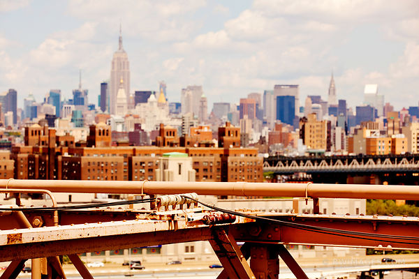 MANHATTAN SKYLINE NEW YORK CITY COLOR