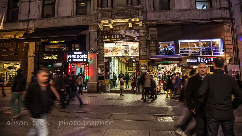 Evening shopping near Taksim Square, Istanbul