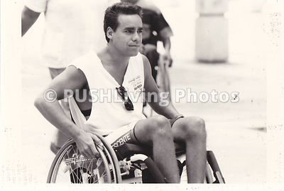 Male athlete in a wheelchair