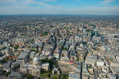 Aerial view of St Paul's, the City of London