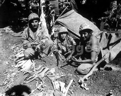 Navajo code talkers in Saipan